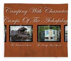 Camps Of The Atchafalaya Basin Fleece Blanket