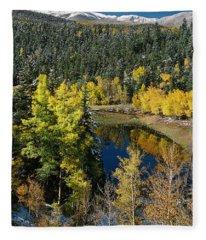 Fall Color On Bobcat Pass Fleece Blanket