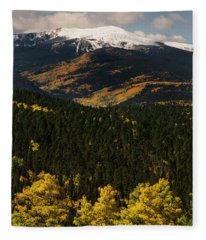 Fall Color On Gold Hill Fleece Blanket