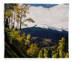 Fall Snow On Wheeler Peak Fleece Blanket