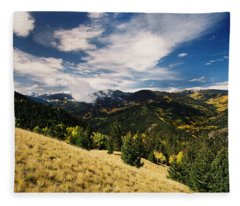 Fall View From Old Red River Pass Fleece Blanket
