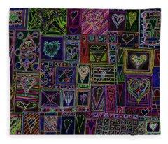 Find U'r Love Found V 3 Fleece Blanket