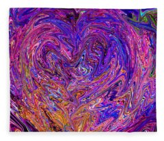 Love From The Ripple Of Thought  V 6  Fleece Blanket