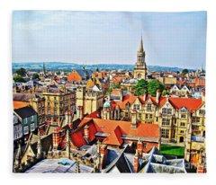 Oxford Cityscape Fleece Blanket