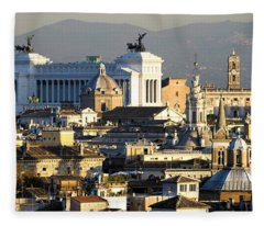 Rome's Rooftops Fleece Blanket