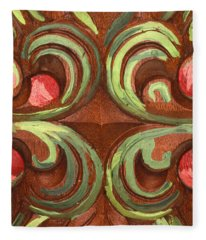 Tucson Painted Door Detail Fleece Blanket