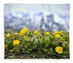 Alpine Meadow In Jasper National Park Fleece Blanket