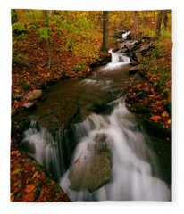 Autumn In New York Fleece Blanket