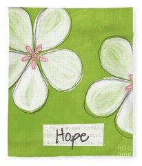 Cherry Blossom Hope Fleece Blanket