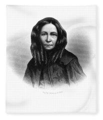 Elizabeth Barrett Browning Fleece Blanket