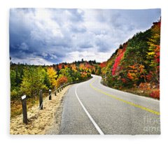 Fall Highway Fleece Blanket