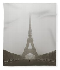 Foggy Morning In Paris Fleece Blanket