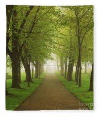 Foggy Park Fleece Blanket