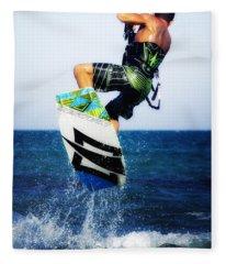 Kitesurfer Fleece Blanket