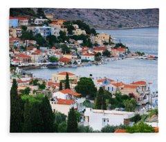 Lagada. Chios Greece  Fleece Blanket