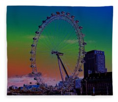 London Eye Digital Art Fleece Blanket