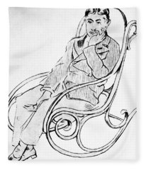 Marcel Proust (1871-1922) Fleece Blanket