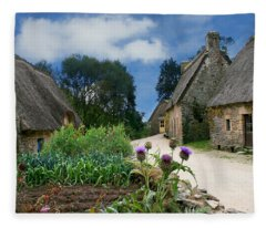 Medieval Village Fleece Blanket