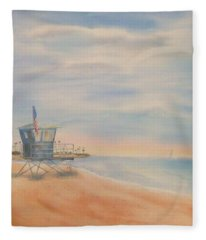 Morning By The Beach Fleece Blanket