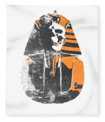 Pharaoh Stencil  Fleece Blanket