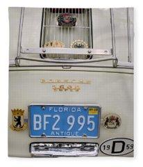 Porsche 1600 Super 1959 Rear View. Miami Fleece Blanket