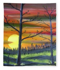 Spring Sunrise Fleece Blanket