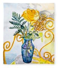The Blue Vase Fleece Blanket