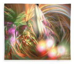 Vanilla Moment - Abstract Art Fleece Blanket
