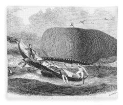 Whaling, 1850 Fleece Blanket