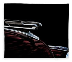 1940 Chevy Hood Ornament Fleece Blanket