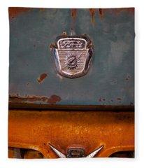1953 Ford Dump Truck Fleece Blanket