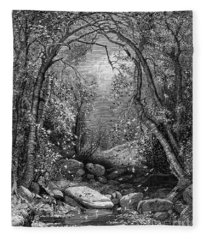 Autumn, 1873 Fleece Blanket