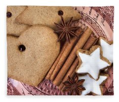 Christmas Gingerbread Fleece Blanket