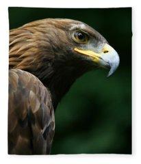 Golden Eagles Face Aquila Chrysaetos Fleece Blanket
