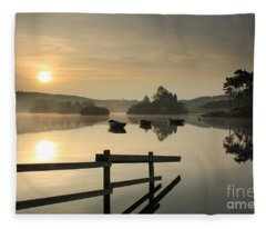 Knapps Loch Sunrise Fleece Blanket