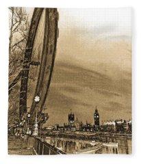 London Eye And Westminster Art Fleece Blanket