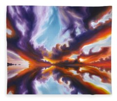 Reflections Of The Mind Fleece Blanket
