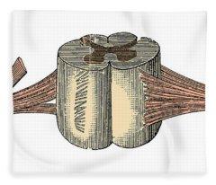 Spinal Cord Fleece Blanket