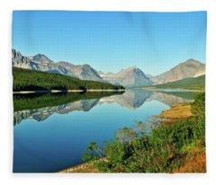 Lake Sherburne Fleece Blanket