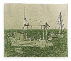 Fishing Boats Art Fleece Blanket