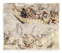 Japan: Mongol Invasion Fleece Blanket