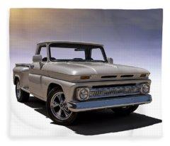'66 Chevy Pickup Fleece Blanket