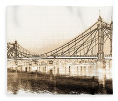 Albert Bridge London Fleece Blanket