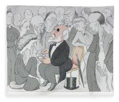 Robert Browning (1812-1889) Fleece Blanket