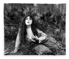 Theda Bara (1885-1955) Fleece Blanket