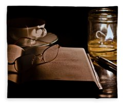 A Candlelight Scene Fleece Blanket