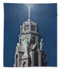 A Church Tower Fleece Blanket