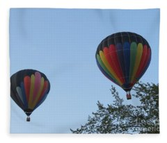 A Colorful Couple. Oshkosh 2012. Fleece Blanket