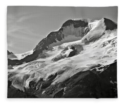 A Glacier In Jasper National Park Fleece Blanket