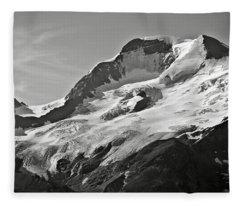 A Glacier In Jasper National Park Fleece Blanket